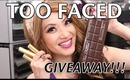 GIVEAWAY  TOO FACED Win $200 in Goodies!!!  --3 WINNERS TOTAL