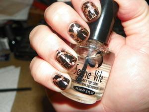 Revlon's 'Copper Penny' under CG's 'Black Mesh'