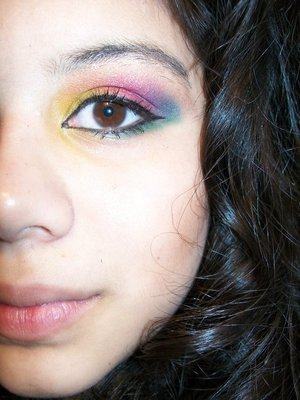 this eye makeup was intended for the gay pride parade.