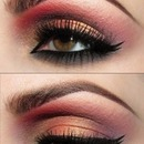 Sexy Pink&Gold Eye Makeup
