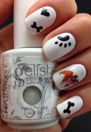 For info visit lslfun.blogspot Ot is a gel polish manicure, using some bulldog decals, really cure! http://lslfun.blogspot.com
