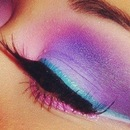 Colorful eye look.
