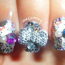 3D Cute Glitzy Nails!