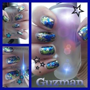 Galaxy Nails my way with nail foils