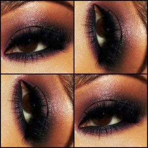 Purple Smokey eye! clubbing makeup!