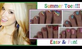 ☼Summer Pedicures☼ Easy & Fun Designs!