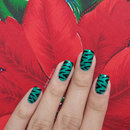 Tropical Zebra Print Nails