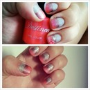 silver pink and coral gradient