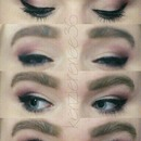 Mauve Gradient eye with winged liner