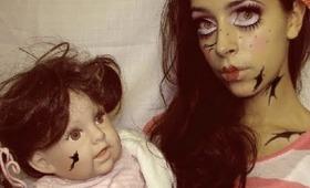 Halloween Makeup Cute Broken Doll