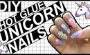 DIY SCULPTED UNICORN NAILS -NO ACRYLIC-