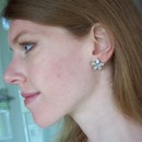 Taking pics of my Audrey Earrings for my blog :]