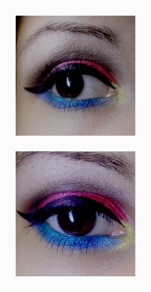 A make up inspired by city lights!