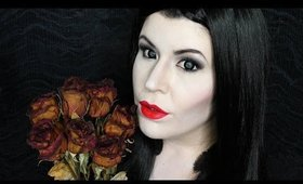 Morticia Addams Makeup Tutorial: Halloween Day 21