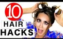 10 Creative HAIR HACKS & HAIRSTYLES Every Girl Should Know!  Life Beauty Tips!