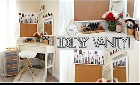 DIY WHITE VANITY - WALMART AND DOLLAR TREE! | Kym Yvonne