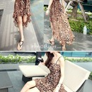 Women's Fashion Sexy Leopard Print High Low Dress