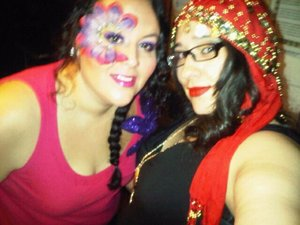 The gypsy and her flower princess..LOL!