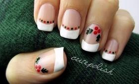 Easy Holly Nails