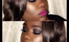 Easy Smokey Eye with bold lip | WOC FRIENDLY