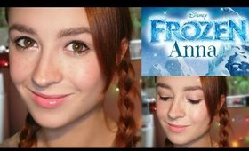 Disney's Frozen Princess Anna Hair & Makeup | Halloween Collab + Bloopers
