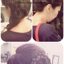 Bridal Prom Braid Updo