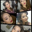 1950'S Inspired Makeup Tutorialred Makeup And Hair