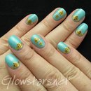 Featuring Born Pretty Store Gold Embossed Nail Art Stickers
