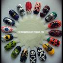 Halloween 2012 Nail Art