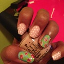 flowers and polka dots
