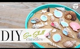 DIY Summer SeaShell Candles | Beach Home Decor by ANNEORSHINE