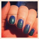 Canucks colours glitter gradient