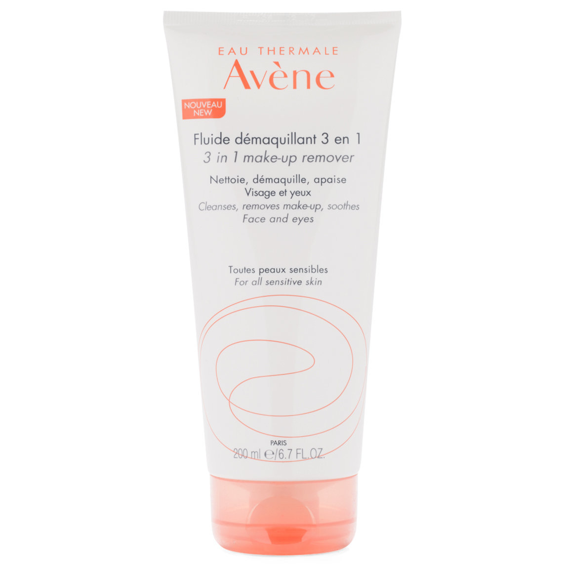 Eau Thermale Avène 3 In 1 Make-Up Remover 200 ml product smear.