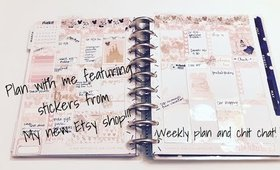 PLAN WITH ME | FEAT A GLITTERY LIFE PLANS STICKERS!!