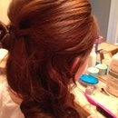 Half up prom hairstyle