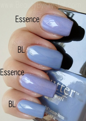 Essence A Lovely Secret vs. Butter London Sprog http://www.beautybykrystal.com/2012/09/color-compare-essence-lovely-secret-vs.html