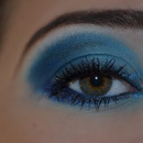 Blue smokey makeup for special events