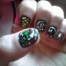 Mario Bros. nail art