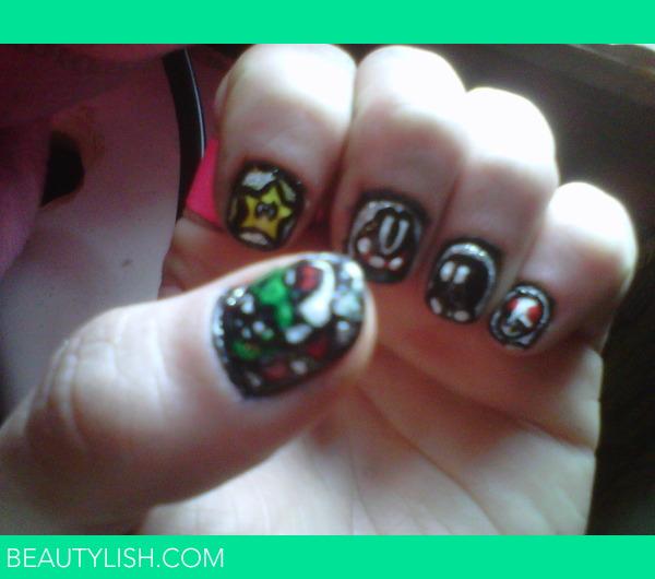 Mario Bros. nail art | Tushy P.\'s Photo | Beautylish