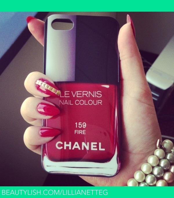Chanel Nailpolish Iphone 5 Case Stiletto Nails