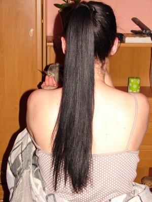 my mom ironed hair