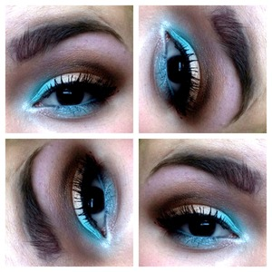 Eye makeup inspired by the beach.