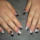 Black and white nail polish