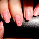 Glitter peach