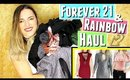 Black Friday Haul & Cyber Monday Haul   Forever 21 try on haul & Rainbow ft. Open Shoulder & more