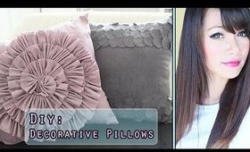 DIY: Hand Sewn Decorative Pillows