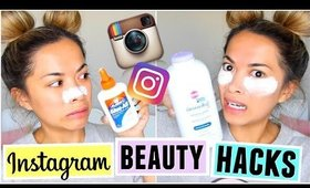 Instagram BEAUTY HACKS Tested! Part 2!