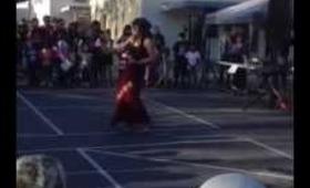 Me dancing Pua Olena for my kids Multicultural at School.
