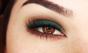 Smokey eyes with Green and Browns makeup tutorial