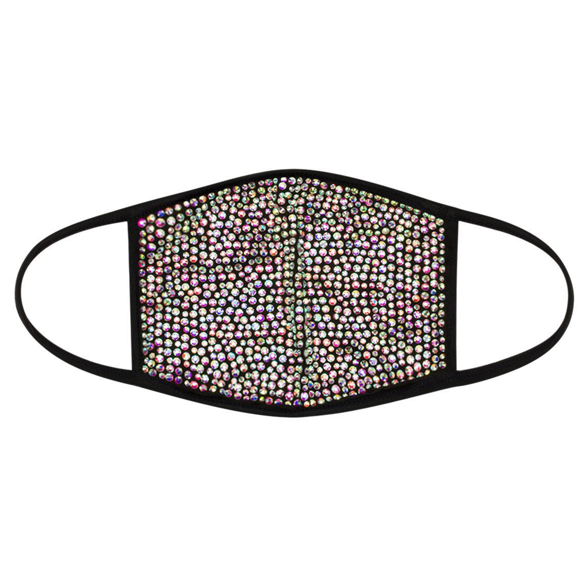 Lit Cosmetics Rhinestone Mask Black Mask - Rainbow Crystal alternative view 1 - product swatch.